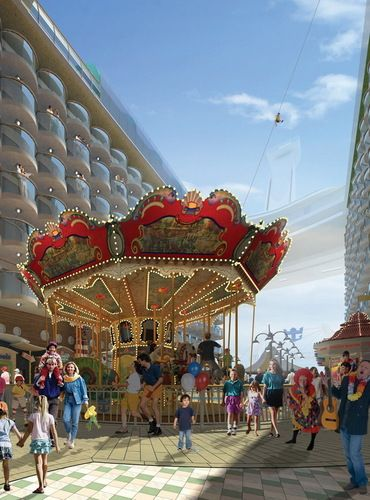 ●Carousel and Zipline on the Boardwalk